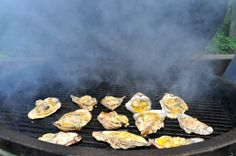 Grilled Oysters with Herb Butter.