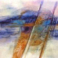 Inktense on fabric by Sherrill Kahn Yarn Painting, Fabric Painting, Fabric Art, Painting Prints, Inktense Blocks, Derwent Inktense, Sharpie Projects, Sharpie Crafts, Fabric Dyeing Techniques