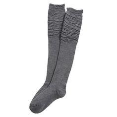 Ladeda Girls Ruched Knee High Boot Sock