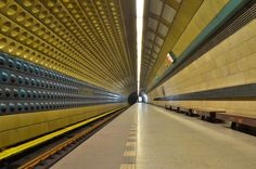 Yellow. Metro station prague by Mohamed Raouf, via 500px