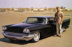 Clif Inman's iconic 1957 Chrysler custom was Johan Norlin's main source of inspiration when he began restyling his 1957 New Yorker in 1997. Clif's Chrysler was first mildly restyled by Joe Wilhelm in 1960. After an accident in 1962 he restyled the car again. This time the top was chopped 3 1/2 inches. More info and photos of the Clif Inman Chrysler can be found here: http://ift.tt/2wuUb34