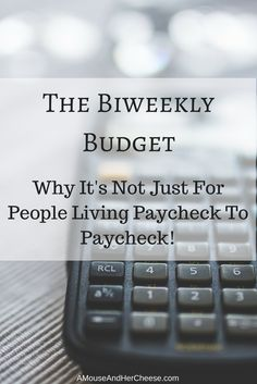 The biweekly budget is, as the name implies, a budgeting method that requires you to create a new budget every two weeks, or when you receive each paycheck. Get Out Of Debt, Setting Goals, Homemaking, Personal Finance, Saving Money, Periodic Table, Budgeting, How To Get, Good Things