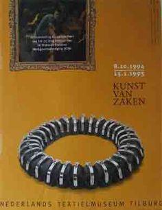 Kunst van Zaken. Textielmuseum. Tentoonstellingsaffiche 1994-1995.