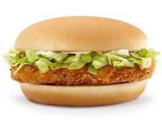 Today's secret recipe will show you how to make one of the tasty sandwiches served at McDonald's. The McChicken sandwich has perfectly crispy chicken with shredded iceberg lettuce and … Crispy Chicken Burgers, Spicy Chicken Sandwiches, Chicken Patties, Sandwiches For Lunch, Delicious Sandwiches, Mcdonalds Recipes, Mcdonalds Chicken, Menu Fast Food, Food Menu