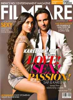 Saif Ali Khan & Kareena Kapoor FILMFARE #BOLLYWOOD