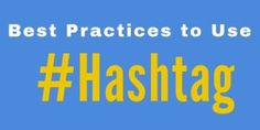 Best Practices to Use Hashtag On Twitter: Is Your Business #Trending? http://ift.tt/2tZOtbp