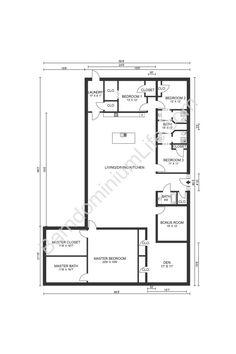 Barn Homes Floor Plans, Mobile Home Floor Plans, Cottage Floor Plans, Barn House Plans, New House Plans, Dream House Plans, Barn Plans, Dream Houses, Simple Floor Plans