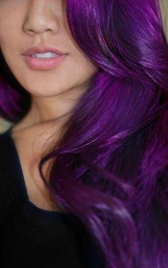 Do you want dark purple hair color? We have pictures of Amazing Dark Purple Hair Color Ideas that will inspire the purple diva in you! Dark Purple Hair Color, Dyed Hair Purple, Dye My Hair, Dark Violet Hair, Purple Tips, Purple Rain, Red Purple, Dark Hair, Color Blue