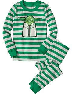 Star Wars™ Yoda Long John Pajamas from Hanna Andersson