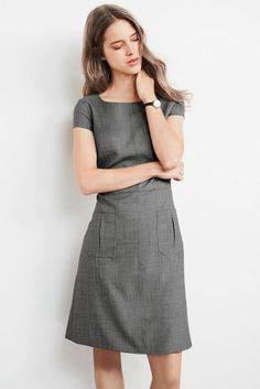 a799efb0d05b88 Grey Wool Blend Dress Next Store
