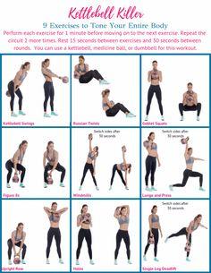 Kettlebell Training, Kettlebell Workout Routines, Kettlebell Circuit, Upper Body Kettlebell Workout, Kettlebell Challenge, Kettlebell Benefits, Boxing Workout, Total Body Workouts, Full Body Circuit Workout