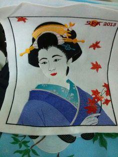 Embroidery#geisha#Fa#Cahaya_Nk