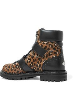 4f3e3f2b126 Jimmy Choo - Breeze studded leather-trimmed leopard-print calf hair ankle  boots