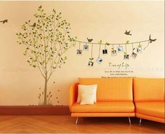 Free shipping Family Tree Bird Photo Frame Wall Quotes, Wall Stickers, Wall Decals,Wall Art  on Aliexpress.com