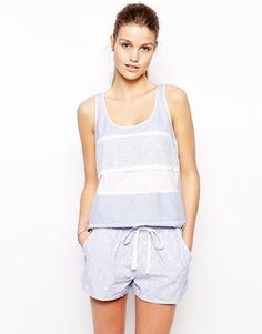Oysho Spot And Stripe Pyjama Vest
