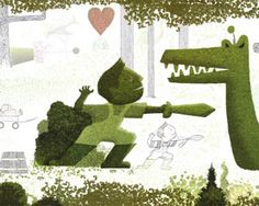 With unusually lush, green illustrations, Lane Smith's 'Grandpa Green' is simply a beautiful book.