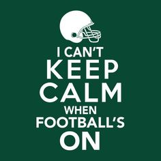This funny football fan t-shirt is perfect for super fans who can't keep calm when football's on. It makes the perfect game day t-shirt or gift for football fan to support their favorite football team