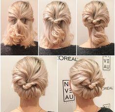 Peinados recogidos para cabello corto faciles