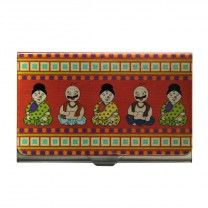 Nodding Doll Pandit Steel Card Holder by The Elephant Company