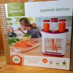 Infantino Squeeze Station: cool way to store hone made baby food Toddler Meals, Kids Meals, Toddler Food, Store Baby Food, Baby Tech, Baby Puree, Baby Food Recipes, Drink Recipes, Newborn Care