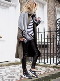 Grey look with Acne scarf ...