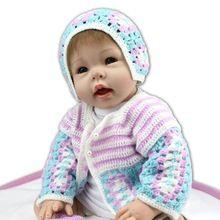 UCanaan Novo 50-55 cm Artesanal de Silicone Brinquedos Lifelike Renascer Baby Doll Soft Touch Corpo Beleza Roupas Bonecas Reborn boneca Melhor Presente(China (Mainland))