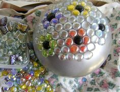 Bits and Pieces: Make A Gazing Ball Using A Bowling Ball,Bottle Cap Ladybugs,Spring Is Here Photos