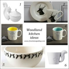 Woodland trend ideas for your kitchen from www.freshdesignblog.com #woodland #trends #animals #cute #winter #home #yourhomemagazine #decorating #fox #owl #squirrel