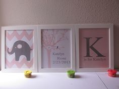 baby nursery art, I love the elephants lol