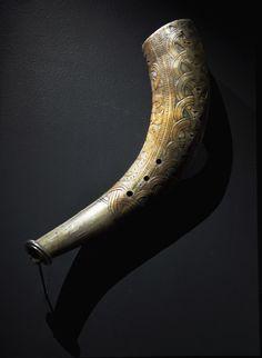 Drinking horn; Norsk Folkmuseum, Oslo