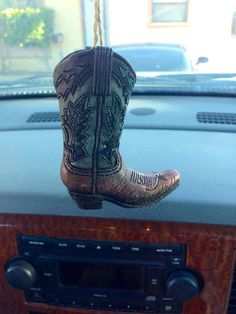 Country Boot Car Accessory Mirror Hanging by TexasRoots on Etsy, $14.00