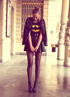 Batman dress!!! The skirt's a little short, but besides that it's cute :)