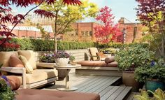 37 Stylish Patio & Outdoor Space Design Ideas is part of Terrace garden design - Discover how these outdoor spaces, terraces, and patio designs from Architectural Digest create the perfect atmosphere for lounging, entertaining, or dining alfresco Outdoor Decor, Apartment Garden, Outdoor Space, Terrace Garden Design, Living Spaces, Rooftop Design, Space Design, Outdoor Space Design, Stylish Patio
