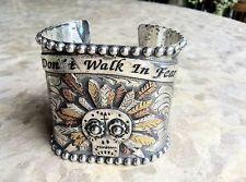 GYPSY COWGIRL SUGAR SKULL Chief wide multi metal cuff bracelet