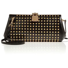 BURBERRY LONDON Studded Leather Clutch in Black