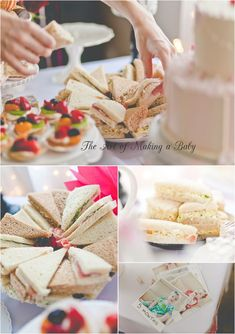 Food examples for pink vintage/shabby/chic Roses & Paris themed birthday party