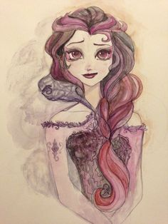 Raven as Elsa. I really do like this, the art work is wonderful and beautifully done.