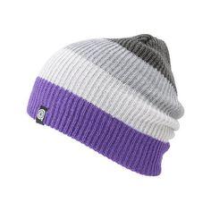 268d1faf57b Aperture Juan Grey Purple Beanie ❤ liked on Polyvore