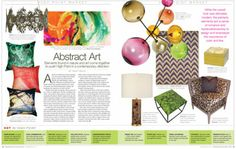 Abstract Art: Elements found in nature and art come together to push High Point in a contemporary direction. October 2013 #hpmkt