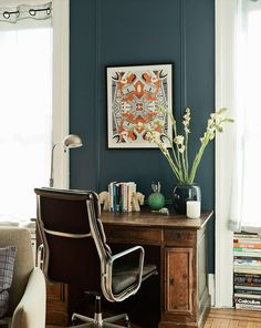 ARTICLE + GALLERY: How to Go Gray When Your Whole House Is Beige - love the living room, study and mismatched dining room!