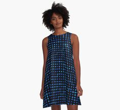"""Sci-Fi Tech Circuit"" A-Line Dresses by jumpercat 