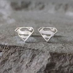 These #Supergirl (or #Superman) studs are perfect for any #comicbook fun!