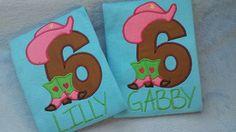 Cowgirl Western Birthday Shirt by MyLilBirthdaySuit on Etsy