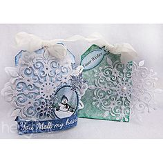 Heartfelt Creations - Snowflake Gift Boxes Project