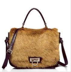 Aliexpress.com : Buy Real 100% cow genuine leather bag of faux fox fur winter dual function women/lady crossbody bag,2013 New luxury promotional item from Reliable shoulder messenger bag suppliers on SaraMary Handbag Wholesale . $48.75