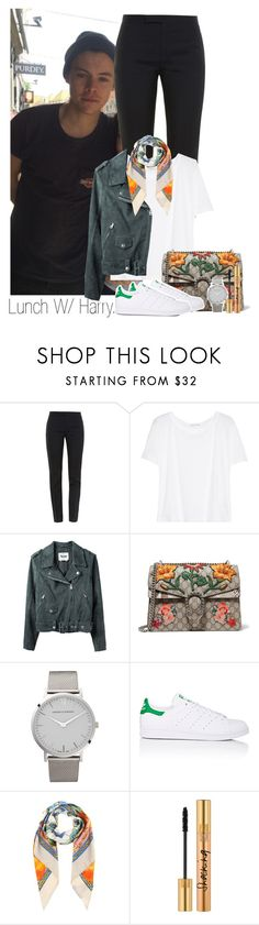 """""""Harry"""" by idaln ❤ liked on Polyvore featuring Yves Saint Laurent, T By Alexander Wang, Acne Studios, Gucci, Larsson & Jennings, adidas, Dolce&Gabbana, OneDirection and onedirectionoutfits"""