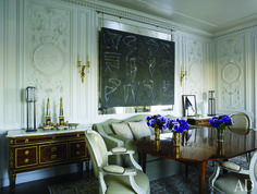 Looking for decorating ideas? Browse beautiful interiors on Architectural Digest for the perfect inspiration to help you design your dream home. Architectural Digest, Neoclassical Interior Design, Antique Dining Tables, Manhattan Apartment, Parisian Apartment, Ferrat, Beautiful Architecture, French Architecture, Architecture Design