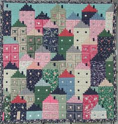 ❤ =^..^= ❤ Treadle Quilts: Kaffe Fasset Happy Houses. From the book.