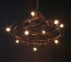Orion 2012 Chandelier > Copper is an instant touch of warmth in any space.