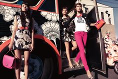 Florence have lived a very exuberant and ever transforming lifestyle. Her designs highlights her personality and her lifestyle which was embraced up to this day. Needless to say her colourful designs have transcended eras and still embraced throughout fashion and interior industries to this day. This image features collaboration with fashion designer Kate Spade.